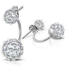 most hypoallergenic earrings shamballa drop hypoallergenic earrings w clear cz solace