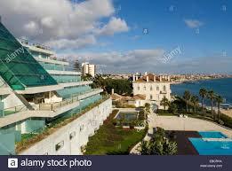 mirage hotel cascais around lisbon portugal europe stock photo
