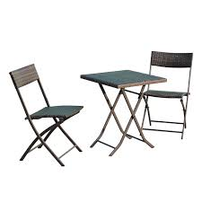 Bistro Patio Chairs outsunny garden folding rattan coffee table set u0026 2 chairs bistro