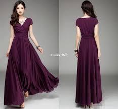 plum wedding dresses plum v neck sleeve chiffon bridesmaid dresses ruffle