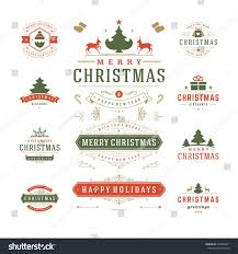 christmas labels badges vector design decorations stock vector