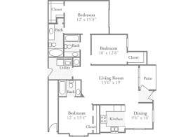 3 bedroom floor plans crowne at long leaf trace stylish