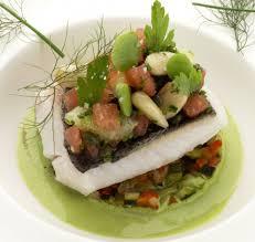 comment cuisiner le cresson pavé de merlu ratatouille de légumes beurre battu au cresson
