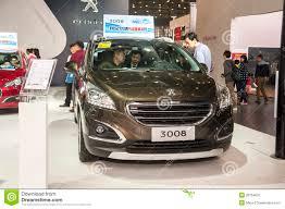 peugeot car dealership brown peugeot 3008 car editorial photo image 39754601