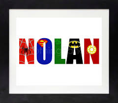 superhero name superhero wall art boy wall art