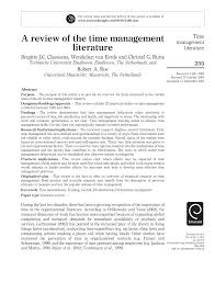 how to write a conclusion for a research paper a review of time management literature pdf download available
