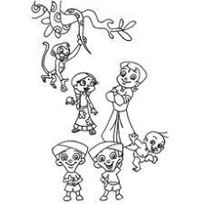 25 free printable chota bheem coloring pages