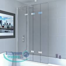 online bathroom store 6mm four panel infold bathscreen