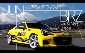 subaru brz black 2015 video jun auto u0027s 11 000 rpm 2 4 liter v8 powered subaru brz revved