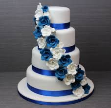 royal blue and white wedding google search wedding cakes