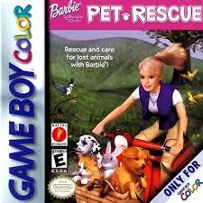 play barbie pet rescue nintendo game boy color play