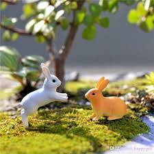 2018 new mini rabbit sitting running rabbit ornament miniature