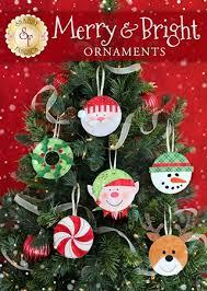 merry bright ornaments pattern