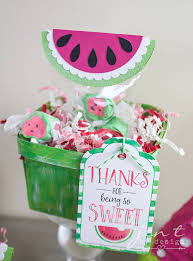 1st birthday party favors a watermelon birthday party with cricut jen t by design