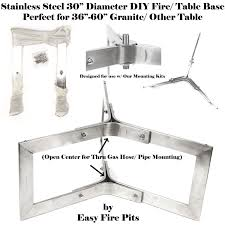 Natural Gas Fire Pit Kit 12 U2033 Tall X 30 U2033 Diameter Stainless Steel Outdoor Table Base