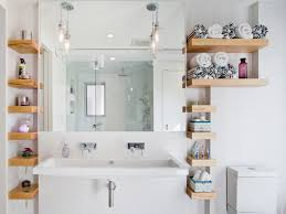 bathroom wall shelves with creative designs in terms of placement