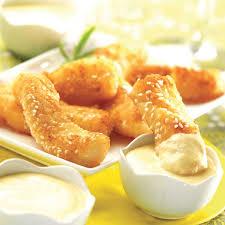 cuisine du poisson recette nuggets de poisson sauce au beurre blanc cuisine