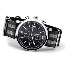 watches chronograph sinobi sports watches with nato watchband