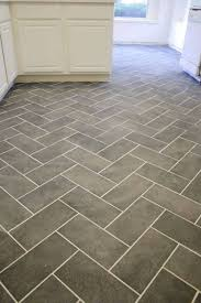 Kitchen Floor Options by Herringbone Porcelaine Kitchen Floor Tiles With Darker Grout