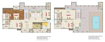 Penthouse Floor Plan by 5 Bhk 3475 Sq Ft Penthouse For Sale In Sunshine Helios At Rs