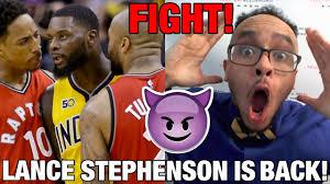Lance Stephenson Meme - tea recap 2017 nba stephenson derozan tucker fight paul george