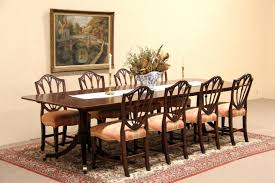 dining room table accessories luxurious sold baker vintage georgian banded dining table 3 leaves