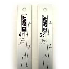 stirring mixing stick and ratio measurement double sided 2 1 and 4