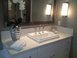Iced White Quartz Countertops By M S International Inc - Bathroom vanities with quartz countertops