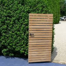 modern wood gate yahoo image search results newton exterior