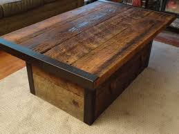 unique coffee table furniture distressed wood coffee table awesome distressed wood
