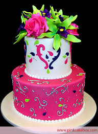 2 tier floral cake birthday cakes floral cake neon cakes and