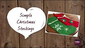 how to make simple christmas stockings youtube