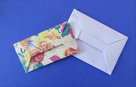 how to make envelopes how to fold an origami bar envelope