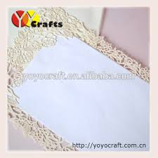 Blank Wedding Invitations Handmade Wedding Invitation Card Lace Paper Blank Wedding
