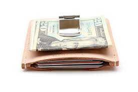 mens wallet money clip card holder leather moneyclip card