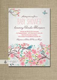 bird baby shower bloom bird baby shower invitation garden tree floral baby girl