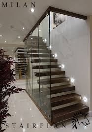 Floating Stairs Design The Milan Staircase With Black Walnut Stair Treads Madera