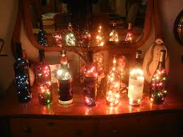 christmas lights in wine bottle christmas lights decoration
