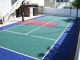 home volleyball courts exhibit sports