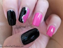 pink and black nail design tutorial how to create a pink