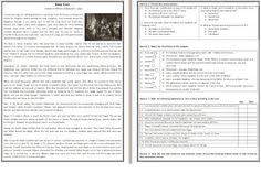 this reading comprehension worksheet is suitable for upper