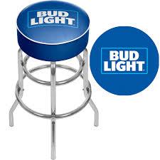 bud light bar light trademark global bud light 30 bar stool blue walmart com