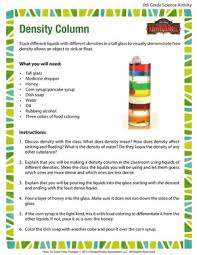 density column fun hands on science activity of dragons