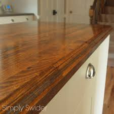 kitchen simply swider stained butcher block