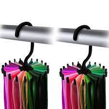 ipow tie rack organizer hook belt holder necktie twirling hanger