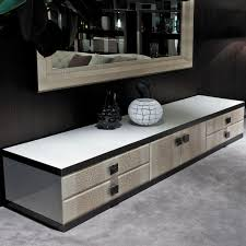 Black Contemporary Sideboard Contemporary Sideboard Walnut Leather Marble Aspen Y740 By