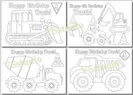 construction birthday party truck party coloring pages pdf
