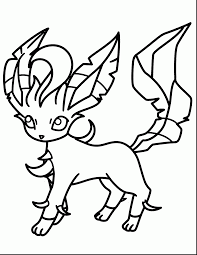 incredible pokemon leafeon coloring pages with coloring pages of