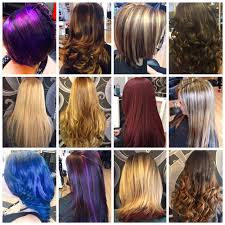 we specialize in highlights lowlights haircuts fantasy color