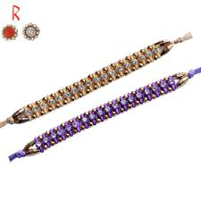 buy rakhi online bhai rakhi true color of 2 diamond rakhi set for raksha bandhan